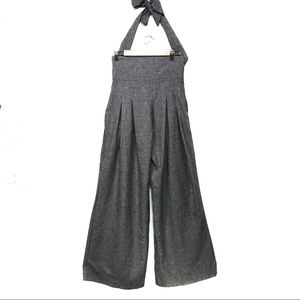 SHEIN gray wise leg  jumpsuit halter top medium